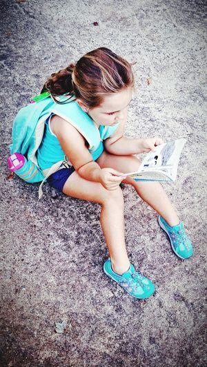 Reading A Book Early Reading Enjoying Life Childhood Kindergarten