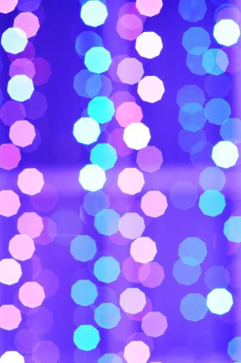 Christmas Lights Christmastime Blurry Purple Blue Lights Colourful