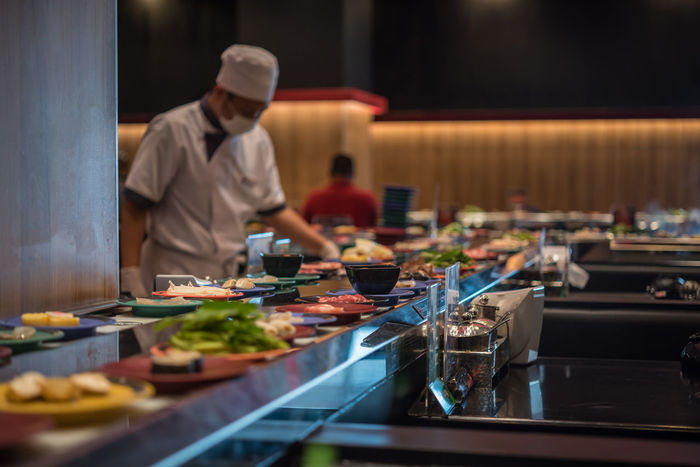 Chef Commercial Kitchen Day Food Food And Drink Food And Drink Establishment Freshness Healthy Eating Indoors  Occupation One Person People Plate Preparation  Real People Restaurant Selective Focus Working