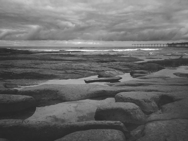 Sky Beach Water Black And White Wave Pier Waves California Bnw Ocean CaliLife OceanBeach Sandiego Mextures Mexturesapp Sdlife Sandiego_ca Obpier Skyporn Cloudporn