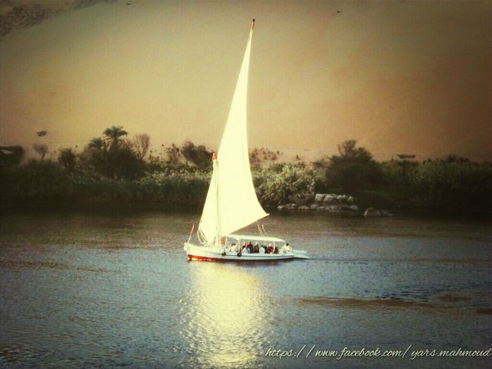 Boat Trip The Nile River Natural Beauty Water Reflections