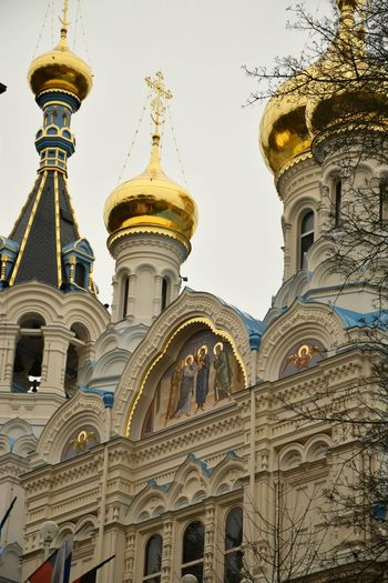 Religion Spirituality Gold Colored Travel Karlovy Vary Ortodox Church