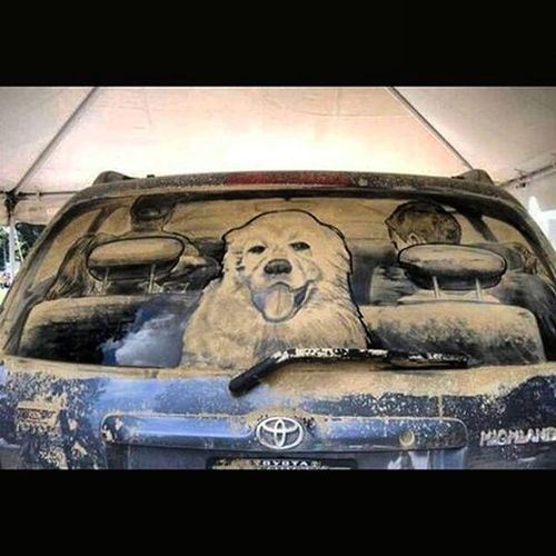 КрасотенскаяКрасота ИзИнета НетрадиционнаяЖивопись РисункиПоПыли Круть DustPicture IzIneta Doggie Doggy DustWindow SquareInstaPic