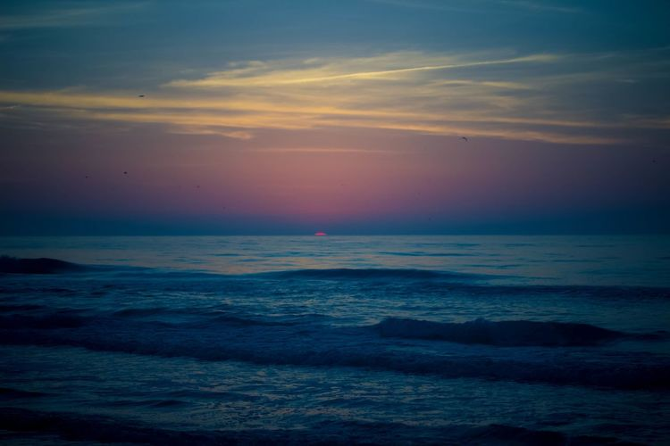 Early Sunrise, Tybee Island, GA Beach Beauty In Nature Horizon Over Water Motion Ocean Outdoors Rippled Scenics Sea Seascape Shore Sunrise, Surf Water Waterfront Wave