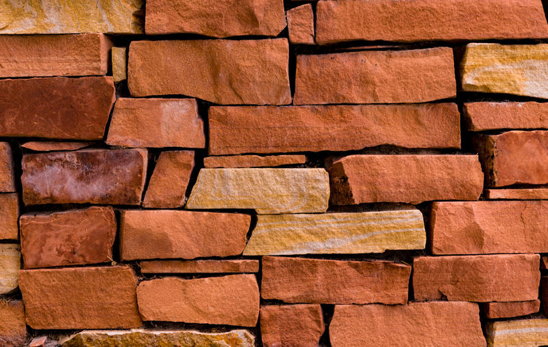 Backgrounds Brick Wall Day Full Frame No People Red Rock Rock Wall Textured  Wall