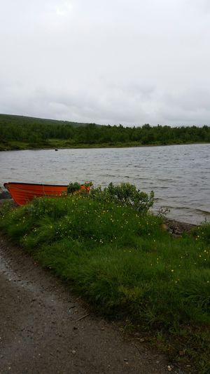 No Filter A Rainy Day Lake Kesudalen Kesusjön Boat Clouds