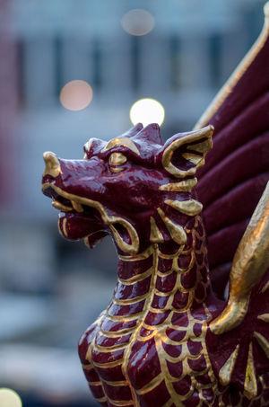 Art Art And Craft City Of London Close-up Creativity Dragon Focus On Foreground Holborn Viaduct London Mythology No People Statue