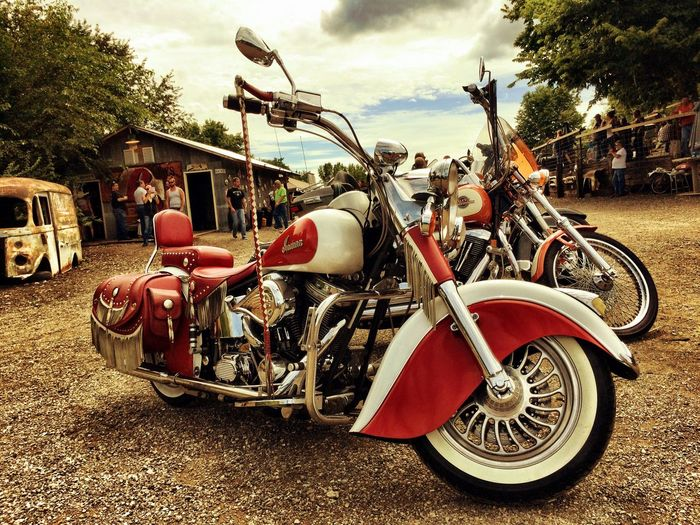 Old Metal Americana Psycho Silo Motorcycles Indian Summertime MidWest V-twin