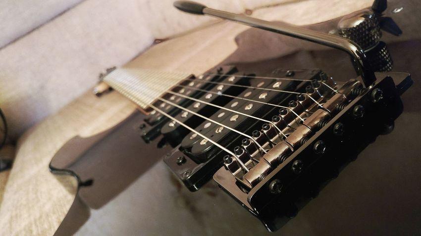 EyeEm Selects Music Musical Instrument Electric Guitar Guitar No People Musical Instrument String Close-up Guitar Bridge Yamaha Yamaha Guitar Black Guitar Arts Culture And Entertainment Tremolo Vintage Bridge