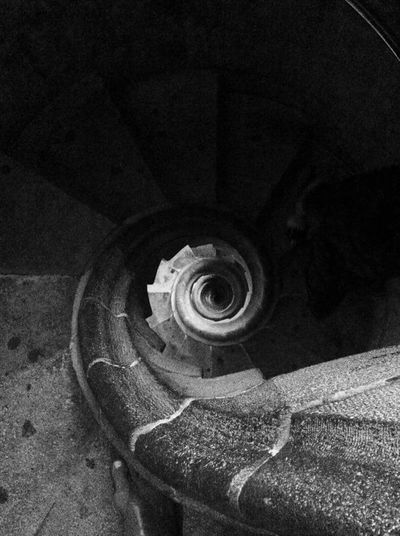 Basilica Segrada Familia Pasion Tower Spiral Landscape Black And White Staircase SPAIN Barcelona Butterflies Dizziness Showcase July