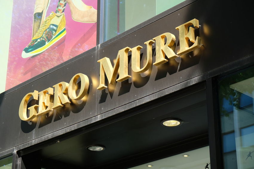 Mannheim, Germany - August 23, 2017: Gero Mure shoe store exterior. Founded in 1979 in Heidelberg Fashion Shoe Shoe Store Shoes Shop Shoes ♥ Shopping Shopping ♡ Advertisement Brand Close-up Commercial Sign Footwear Low Angle View No People Retail  Shoes Shoes Store Shop Shopping Mall Sign Store Store Sign Storefront