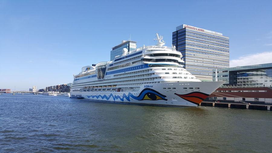 Cruisen! Amsterdam Port Of Amsterdam Cruise Ship Water Aidacruise