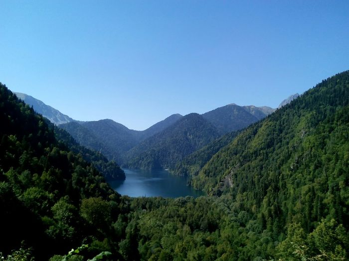 Lake Riza, Abkhazia Abkhazia Subtropical Caucasus Summer Nature EyeEm Nature Lover eyeemphoto EyeEm Best Shots - Nature Riza Lake Riza Tree Water Mountain Forest Lake Pinaceae Pine Tree Beauty Sky Landscape The Great Outdoors - 2018 EyeEm Awards