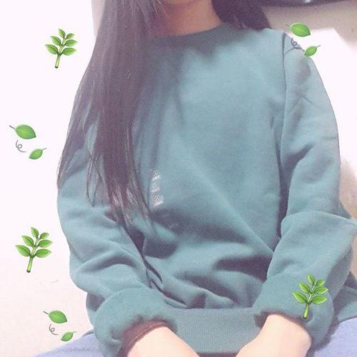 150928 스파오 초록색 맨투맨