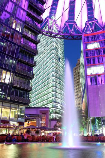 Berlin I Love My City Berliner Ansichten Sonycenter Festival Of Lights 2015 Fontain Springbrunnen Open Edit Capture The Moment Eye4photography  All The Neon Lights Learn & Shoot: After Dark How Do We Build The World? Photography In Motion Cities At Night Capture Berlin