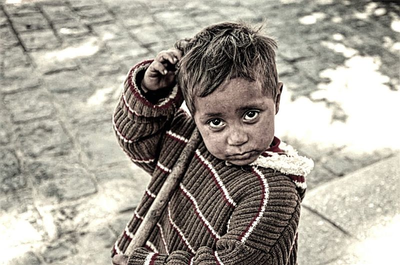 Homeless Kid A Look Of Hope By IPhone Street Mobile Photography Save The Children Cute Thinking