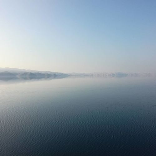 Karlobag Karlobag Croatia Beauty In Nature Nature Scenics Tranquility Blue Outdoors Lake Sky Day Water Fog Landscape No People Tranquil Scene