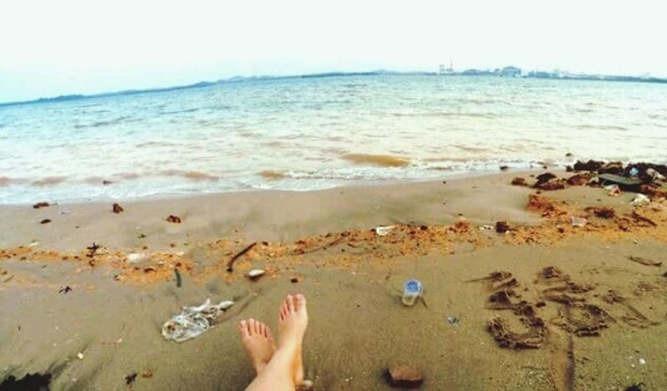 🌊beach. EyeEm Never Will Give Me A Prize For This Shot, But It's Pretty Cool For Me! EyeEmIndonesiaKu Likeforlike hehe😁