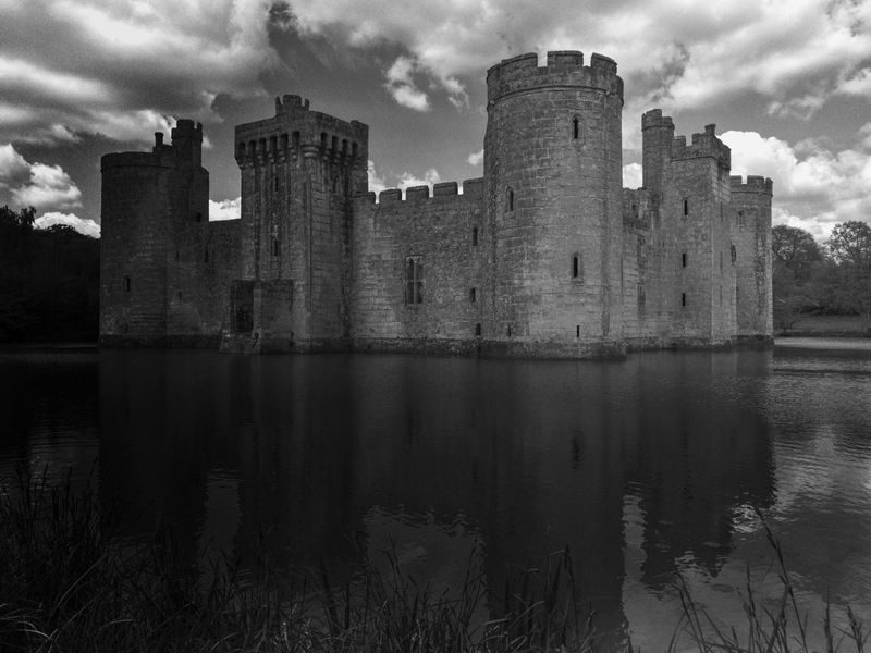 Architecture Building Exterior History Sky Water Castle Cloud - Sky Bodiam Castle Travel Destinations Blackandwhite Black And White Monochrome Blackandwhite Photography Moat Moated Castle Moatedcastle English History Medieval Castle Ruins East Sussex Bodiam National Trust National Trust 🇬🇧 IPhoneography Mobile Photography