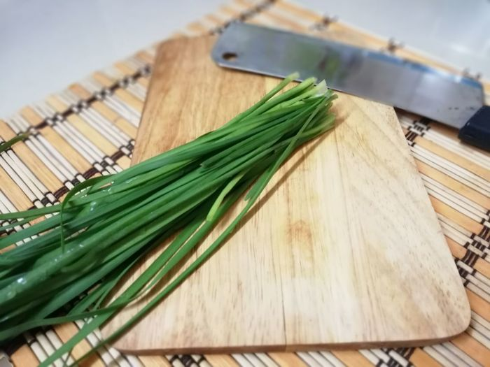 Preparation  Cooking Prepared Food Knife Cutting Board Wood - Material Table Vegetable Kitchen Close-up Food And Drink Green Color Preparing Food Kneading Kitchen Knife