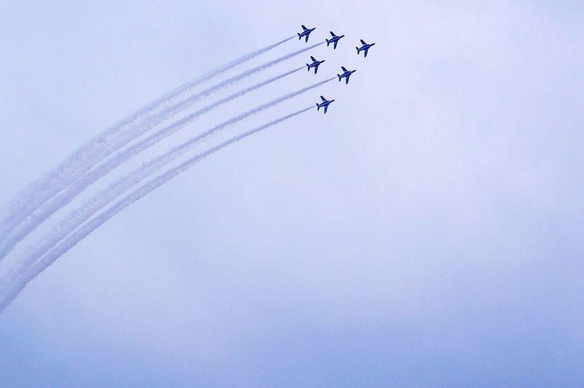 Delta roll Blue Impulse JASDF Japan Aviation Blue Sky Collection Sky Flying Taking Photos