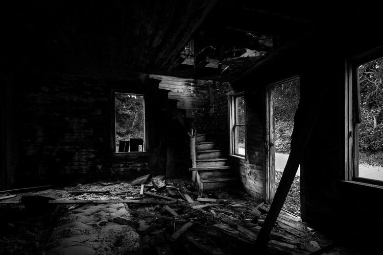 Abandoned Places Abandoned House Abandoned Buildings Abandoned Blackandwhite Old Run-down Bad Condition Deterioration Decline