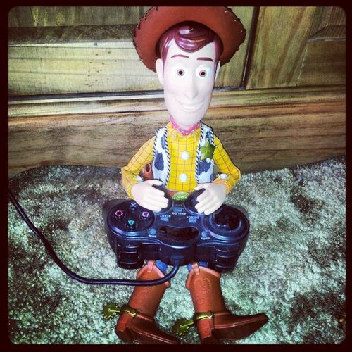 'New day New game' Woody Toystory Gaming Ps2 pixar Disney Cowboy Funny instamob instahub