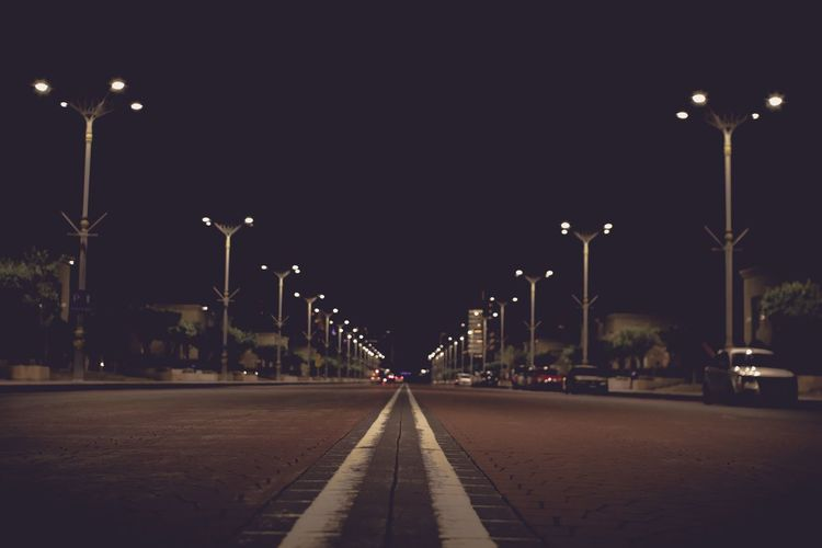 Empty Space Street Light Lighting Equipment Street Illuminated The Way Forward Night Creative Space Direction Road No People