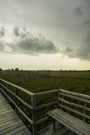 UNESCO Welterbe Bar Beauty In Nature Bridge Cane Cloud - Sky Day Feedersee Jetty Nature Outdoors Reed Reed Sea Reeds Scenics Sky Storm Cloud Stormy Web