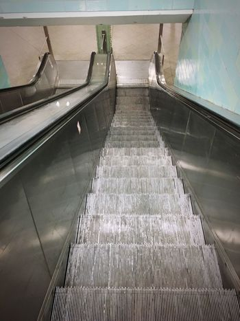 Moiré Metal Bvg Zentralperspektive Railing Direction Water No People Architecture Transportation The Way Forward Staircase Indoors  High Angle View Steps And Staircases Mode Of Transportation