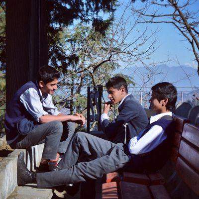 Schoolboys Schoollife MorningChat NotOnBunk Friends Shimla Uniform Revoshots Revo Revoshotsphotography IAmRevo IExplore Itravel Iphotograph Italk Ridge Nikon D7000