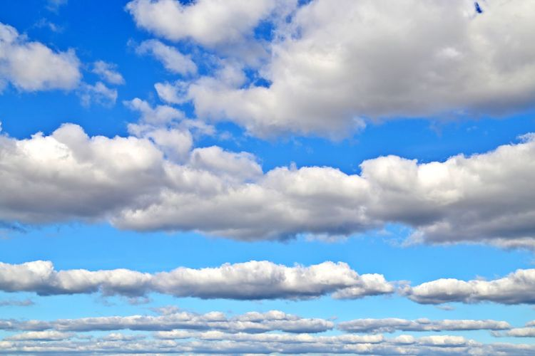 Cloud - Sky Sky Beauty In Nature Scenics - Nature Day Tranquility Blue Low Angle View No People Nature Outdoors Tranquil Scene Idyllic Cloudscape Backgrounds Fluffy Meteorology Non-urban Scene