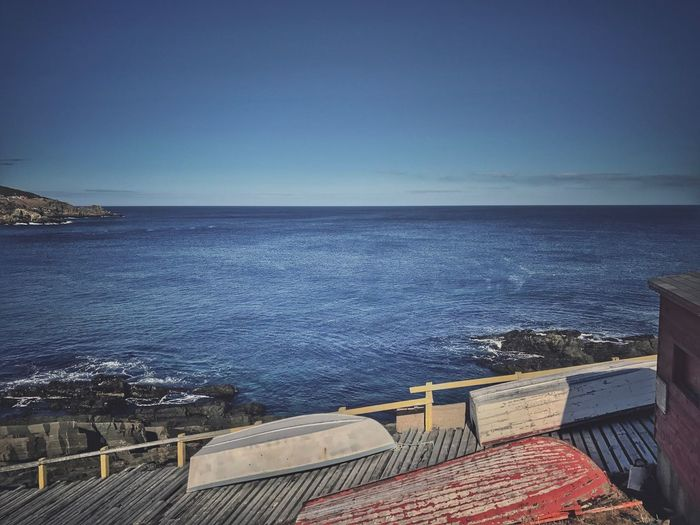 Sea Horizon Over Water Water Scenics Beauty In Nature Nature Sky Tranquility Tranquil Scene Clear Sky No People Day Outdoors Nautical Vessel Newfoundland East Coast Beauty