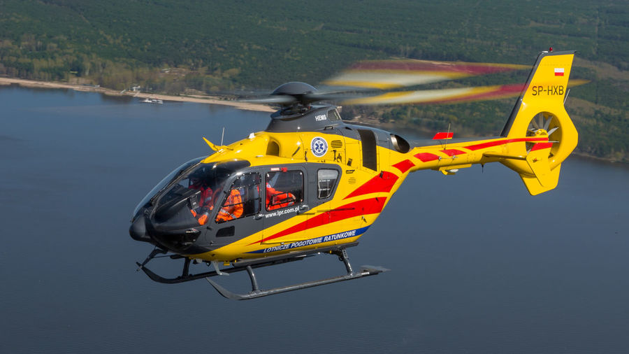 Air Airbus Ambulance Ec135 Emergency Eurocopter H135 Helicopter Hems Mazovia Medical Medicine Poland Rescue Service Travel Warsaw Water