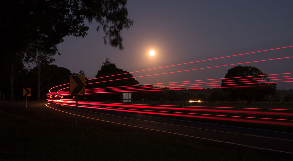 Night time contrails.Photography In Motion Check This Out Light In The Darkness Light Trails Moonrise Moon