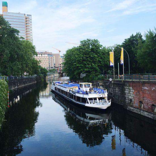 Boat Boattrip Water Reflections Berlin