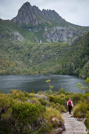 Hiking the dove lake trail, cradle mountain, tasmania