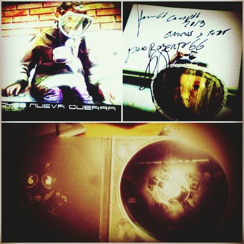 disco autografiado por Candy66 Nueva Guerra