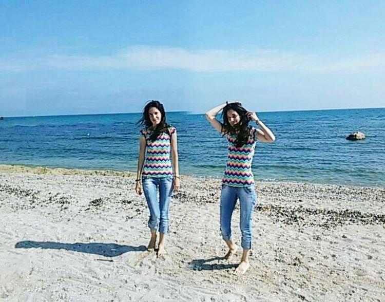 Twins Sisters♡ Sea And Sky Enjoying The Sun Blacksea Me.☺ sea