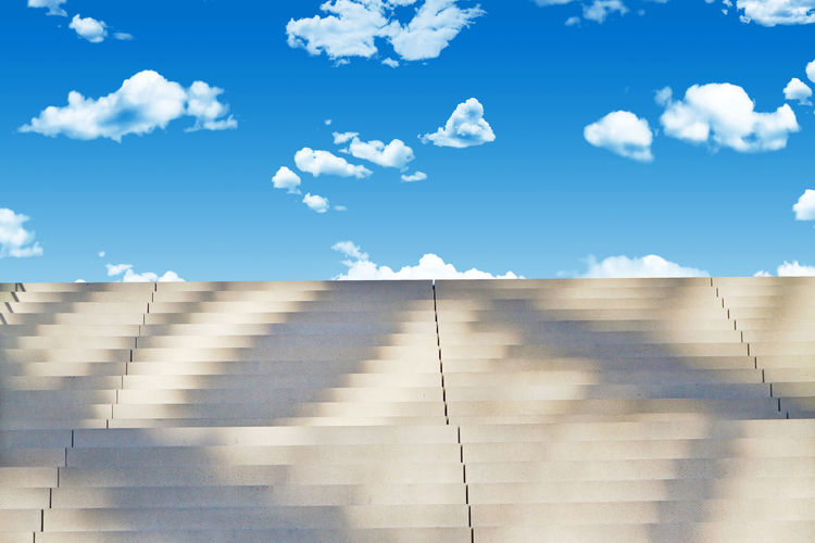 Stairs to the sky Business Freedom Happiness Happy Heaven Peace Stairs Stairway Architecture Background Blue Depression Escape Finance Future Ideas Insurance Progress Psychology Sky stairways Success Sunlight Time Way