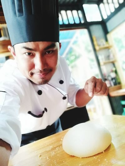 Chef's Whites Food And Drink Establishment Chef Commercial Kitchen Men Kitchen Uniform Chef's Hat Restaurant Preparation  Dough Baking Sheet Kneading Food Service Occupation Baker - Occupation Flour Mixing Bowl Baking Bread Pastry Cutter Artisanal Food And Drink Bakery