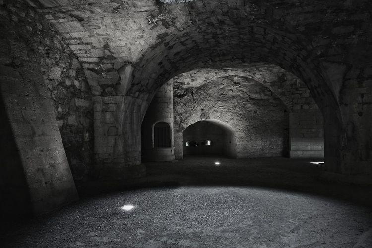 Interior of old ruin