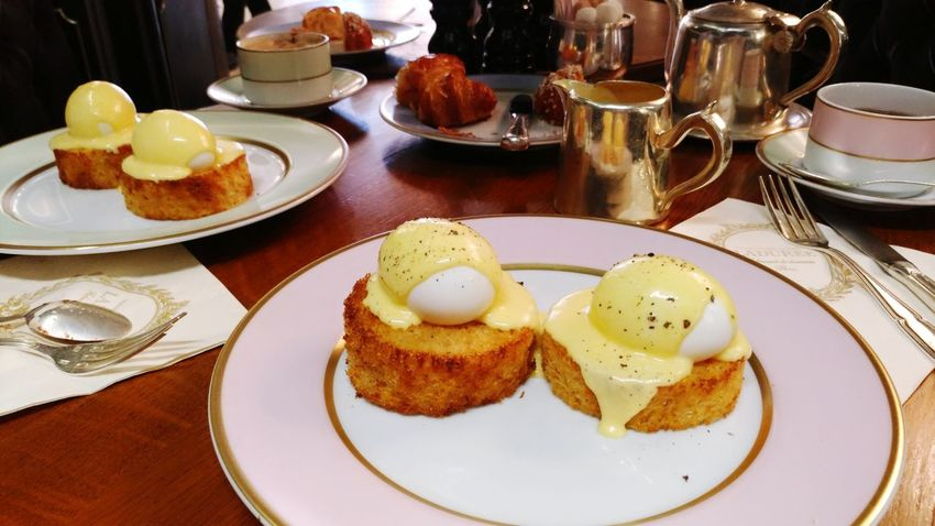 Eggs Benedict Breakfast LADURÉE.  EyeEm Selects Plate Food And Drink Food Ready-to-eat Table Freshness Indoors  Egg
