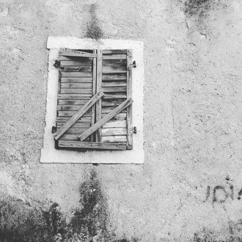 Architecture Boarded Up Building Exterior Built Structure Close-up Day Kotor No People Oldcity Outdoors Slats Streets Window