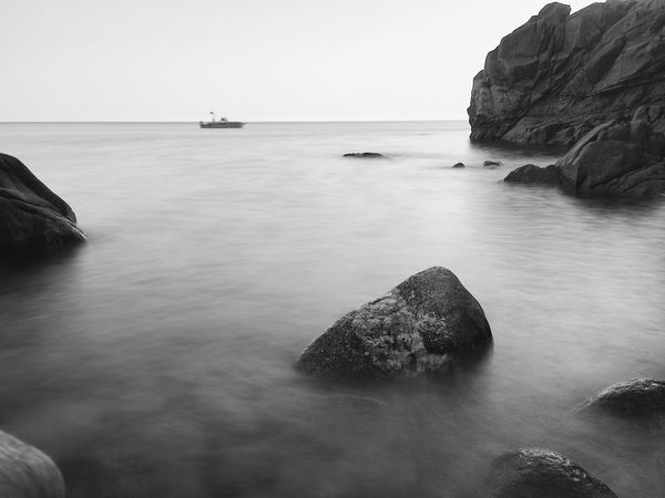 Sea Water Rock - Object Scenics Nature Rock Formation Rock Tranquility Beauty In Nature Outdoors No People Tranquil Scene Day Horizon Over Water Sky Clear Sky The Week On EyeEm Your Ticket To Europe