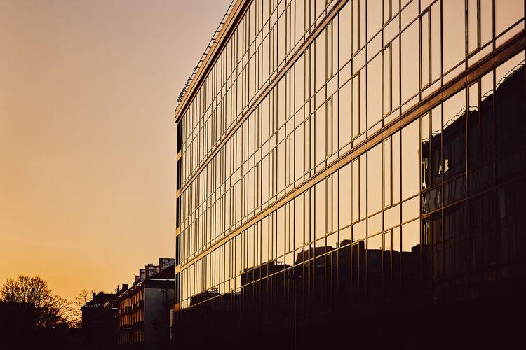 Glass facade at