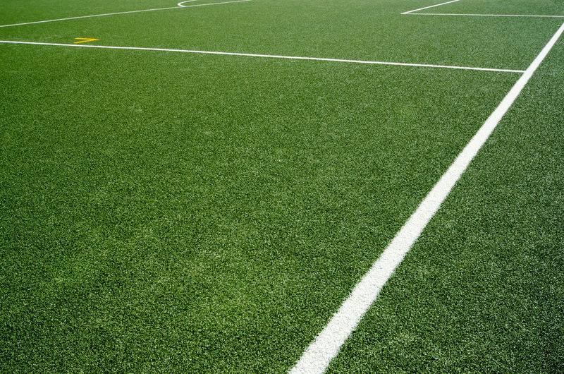 Boundary markings on sports field