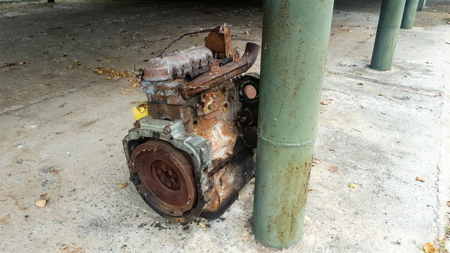 Old engine Ruins Abandoned Day No People Obsolete Old Engine Outdoors Rusty