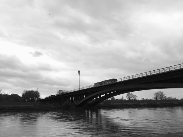 One of the bus lines connecting north (old) and south (new) Zagreb, Croatia, 2016. Transportation Transport Bus Bus Line Zagreb Croatia Bridge - Man Made Structure Bridge Connection Connecting Architecture Engineering River River Bridge