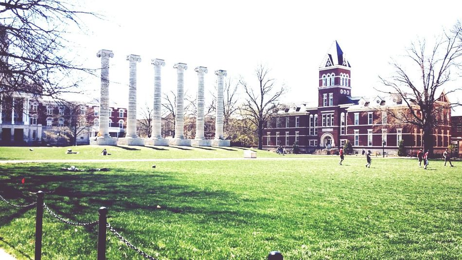 Mizzou Column Campus Pretty Day